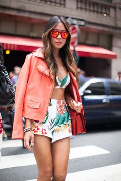 Aimee Song, 53 street style photos from New York Fashion Week #NYFW #floral #print