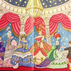 """190 Likes, 17 Comments - Radka (@gate_naty) on Instagram: """"Ball in the Opera #romanticcountry #eriy #romanticcountry2 #adultcoloringbook…"""""""
