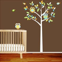 Love love love love this!! I would soooo do this for a nursery, or maybe even my own room!