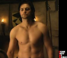 """shorthairedgirl: """" For Des.. the man in black.. shirtless. """" This is what happens when you cast someone in the role of the villain, who has 100 times the charisma of the hero. He steals the show. Richard Armitage as Guy of Gisborne in """"Robin Hood""""...."""