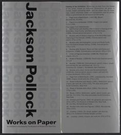 Citation: Exhibit brochure for Jackson Pollock works on paper, 1968 . Jackson Pollock and Lee Krasner papers, Archives of American Art, Smithsonian Institution.
