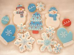 @Kristen Hubbs I think you need to let me make the sour cream cookies for the shower. I could do snow flakes like theses.