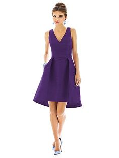 """High low / """"Majestic"""" color-  Alfred Sung Style D586 http://www.dessy.com/dresses/bridesmaid/D586/"""
