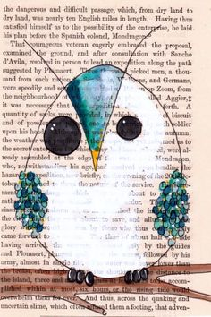 70 Super Ideas For Bird Painting Diy Book Pages Art Journal Pages, Journal D'art, Art Journals, Kunstjournal Inspiration, Art Journal Inspiration, Book Page Art, Book Pages, Art Sur Toile, Owl Artwork