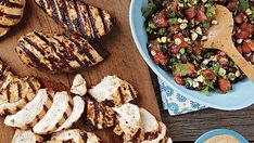 Grilled Chipotle Chicken Breasts with Black Bean Salsa - Recipe - FineCooking