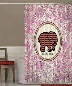 "New Cheap Ivory Ella Chevron Floral Pattern Art Custom Shower Curtain 66"" x 72"" #Unbranded #Modern #Best #Design #Cheap #Gift #Beautiful #Showercurtain #Beautifulshowercurtain"