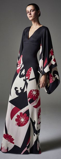The Eastern-Inspired DressAlexander McQueen Abstract Floral-Print Kimono Gown, $6,995; at Bergdorf Goodman