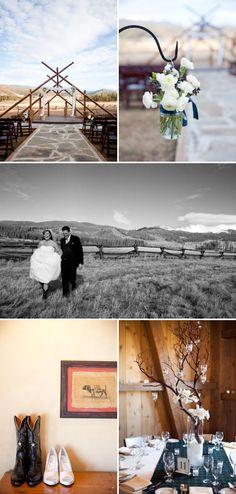 Colorado wedding perfection. Tartan and mason jars? Yes please.