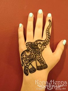 Kona Henna Studio - Elephant Hand Henna Designs More