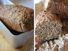 Mat for sjelen …: Lavt karbo grovt brød … – Oppskrifters Bread Recipes, Low Carb Recipes, Gluten Free Diet, Low Carb Keto, Granola, Lchf, Banana Bread, Delish, Nom Nom