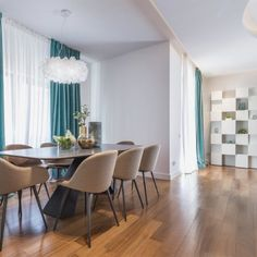 Residential complex Dinamic City, Bucharest is the backdrop for this apartment, designed using Dofinteriors stylistic philosophy of aesthetic balance Residential Complex, Dining Table, Curtains, Mood, Elegant, Natural, Projects, Furniture, Design