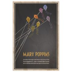 Cute Mary Poppins print 11x14 by Logophilia