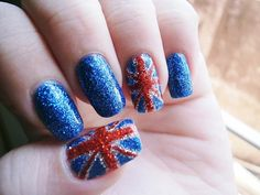 Glittertastic Union Jack // If I EVER get to visit the UK