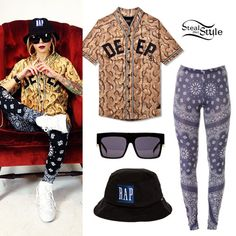 Lil Debbie: Snake Print Jersey Outfit