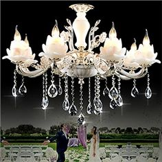 Chandeliers Crystal Modern  Contemporary Bedroom  Dining Room  Study Room  Office Metal