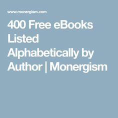 21 best anne hutchinon images on pinterest anne hutchinson 400 free ebooks listed alphabetically by author monergism fandeluxe Image collections