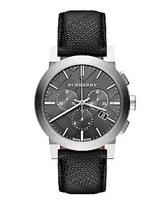 Burberry Stainless Steel Chronograph Watch