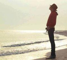 Michael Jackson looking to the sun