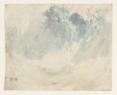 Joseph Mallord William Turner, Ship in a Storm, c. 1826. Pencil and watercolour on paper, 24.1 x 30. cm. Tate Britain, London.