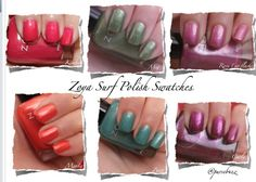 Zoya Surf 2012 colors click for larger images http://pursebuzz.com/2012/06/zoya-surf-polish-swatches-and-review-summer-2012/