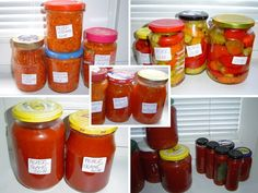Chilli Pasta, Preserves, Chili, Salsa, Frozen, Jar, Plates, Canning, Red Peppers
