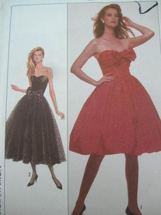 See Sally Sew-Patterns For Less - Full Skirt Dress Fashion Simplicity 8482 Pattern Sz. 8, $9.00 (http://stores.seesallysew.com/full-skirt-dress-fashion-simplicity-8482-pattern-sz-8/)