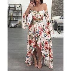 Best skirt long floral fashion 32 Ideas in 2020 Cute Dresses, Beautiful Dresses, Casual Dresses, Prom Dresses, Dress Outfits, Fashion Dresses, Cute Outfits, Floral Fashion, Boho Fashion