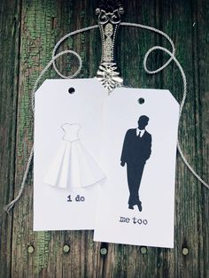 Excited to share the latest addition to my #etsy shop: Wedding Gift Tags, Bride and Groom, Wedding Candy Bar Tags, Black and White, Silhouette, Modern, Gifts, Mod Groom Suit, Bridal Dress https://etsy.me/2jOytlE #supplies #white #wedding #rectangle #partygifting #paper