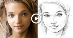 How to Draw a Face Accurately - Exercises to Improve Your Drawing Painting & Drawing, Watercolor Paintings, Drawing Drawing, Drawing Faces, Drawing Journal, Drawing Tips, Sketching, Painting Portraits, Watercolor Portraits