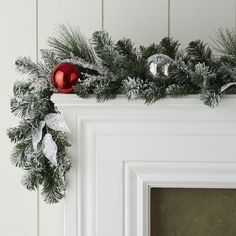 Frosted Faux Pine Ornament Garlands
