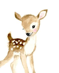 Woodland Nursery Prints Baby Deer Fawn Deer Nursery Art Nursery Prints Nursery Design Animal Painting Neutral Nursery Decor - Let your little one s room warm and pleasant This is a print from my watercolor Printed on b - Hirsch Illustration, Deer Illustration, Illustrations, Art Mignon, Woodland Nursery Prints, Forest Nursery, Deer Art, Nursery Art, Nursery Design