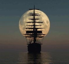 sailing into the moon
