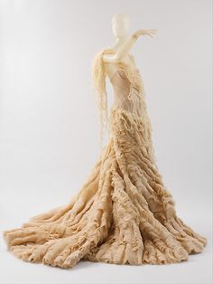 "Alexander McQueen ""Oyster Dress"" c2003 (hardly vintage, but awesome!)"