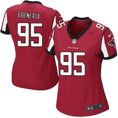 Nike NFL Atlanta Falcons #95 Jonathan Babineaux Limited Women Red Team Color Jersey Sale