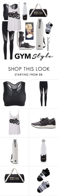 """I Also Happen To Be a Yoga Enthusiast"" by dadrumma ❤ liked on Polyvore featuring MANGO, Dagmar, S'well, Spiritual Gangster, Victoria's Secret, yoga, gym, Gymday and gymessentials"
