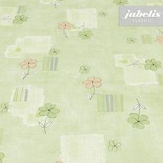 jubelis® Wachstuchtischdecken Viola in hellem Grün mit kleinen Blümchen