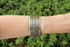Mantra filigree adjustable cuff $11.95 USD  #boho #gypsy #bohojewelry #hippiejewlery #gypsyjewelry