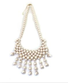 Stunning Simulated Pearl Necklace In Ivory Color $14.98