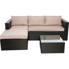 278 WOW Rattan Effect Garden Corner Sofa - Home Delivery