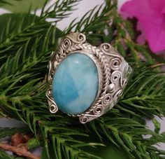 Larimar Rings, Larimar Jewelry, Aquamarine Jewelry, Gemstone Rings, Silver Jewelry, Jewelry Party, Bridal Jewelry, Jewelry Gifts, Hippie Rings