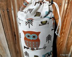Your place to buy and sell all things handmade Parachute Cord, Yoga Bag, Vintage Owl, Owl Print, Mom And Dad, Shop My, Adventure, Fabric, Prints