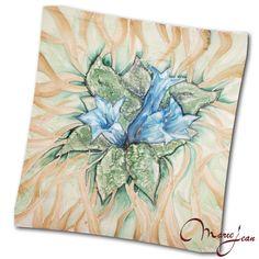 Hodvábna šatka - horec - ručná maľba - www.kozeny.sk Tapestry, Decor, Hanging Tapestry, Tapestries, Decoration, Decorating, Needlepoint, Wallpapers, Rug Hooking
