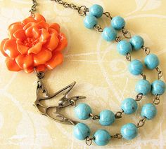 Hey, I found this really awesome Etsy listing at https://www.etsy.com/listing/180756899/flower-necklace-statement-necklace