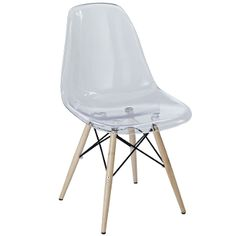 Sally Pyramid Dining Side Chair-Clear