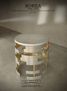 Korea Side Table - Pont des Arts Studio - Designer Monzer Hammoud - Paris-