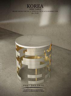 Korea Side Table - Pont des Arts Studio - Designer Monzer Hammoud - Paris-