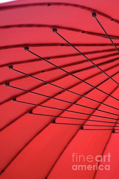 Under My Red Umbrella by Karen Adams #red #umbrella #design #lines