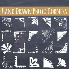 Cute Picture Corners Clip Art // Hand drawn von thePENandBRUSH