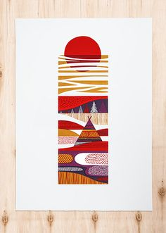 Inari. Silk screen print designed and hand printed by Sanna Annukka. I loved my time in Inari!