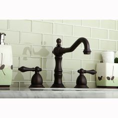 Victorian Spout Oil Rubbed Bronze Bathroom Faucet Deco Home - Dark bronze bathroom faucets